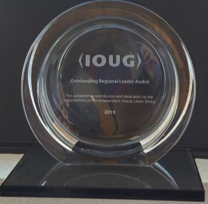 IOUG Award - Chicago Oracle Users Group Five Years